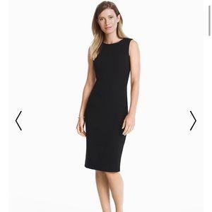 WHBM Black Body Perfecting Sheath Dress Fitted 10